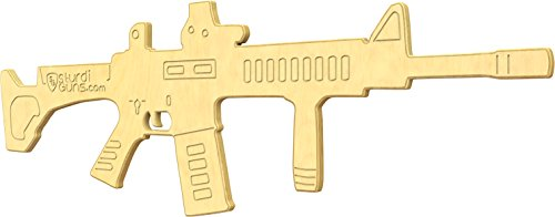 SturdiGuns Kids M4 Carbine Wooden Toy Gun with Lifetime Guarantee, made in America, Extremely (Rifle Guns Replica Toys)
