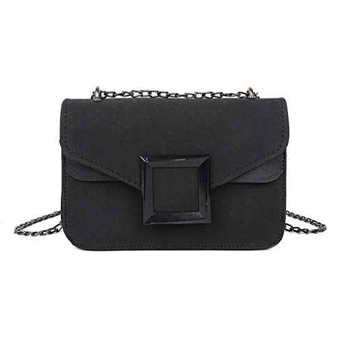 (Mnyycxen Women Small Square Bag Fashion PU Leather Chain Shoulder Bag Diagonal Package Cover Crossbody Bag)