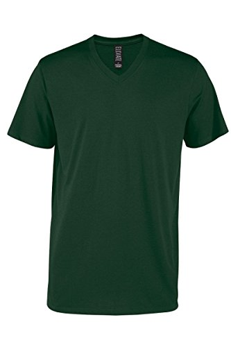 Casual Garb Men's V-Neck T Shirt Short Sleeve Tee T-Shirts for Men Elevate Series Forest Large ()