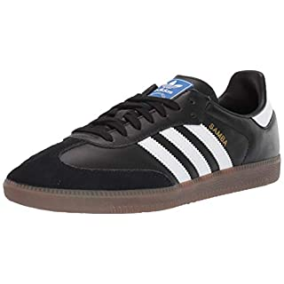 adidas Originals Men's Samba OG Sneaker Black/White/Gum 10.5