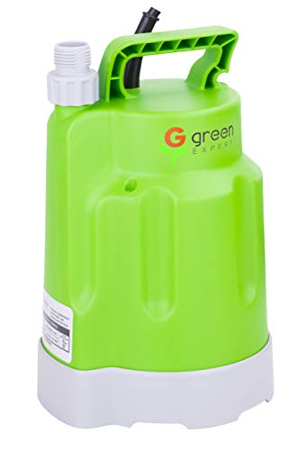- Green Expert 203618 1/4HP Portable Submersible Utility Pump Max 1585 GPH High Flow for Quickly Flood Water Removal, Household DIY Drain Pump for Dewatering Application, Suit to Standard Garden Hose