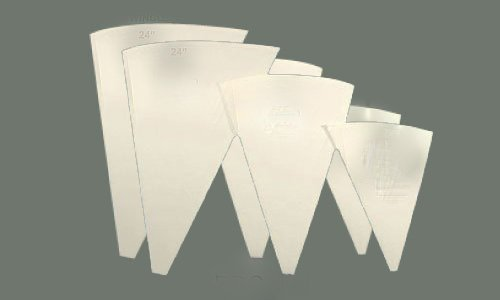 LeRose Cake Decorating Pastry Bag Set ~ 6 Sizes Icing Bags ~ Cotton with Plastic Coating ~ 1 of Each- 12