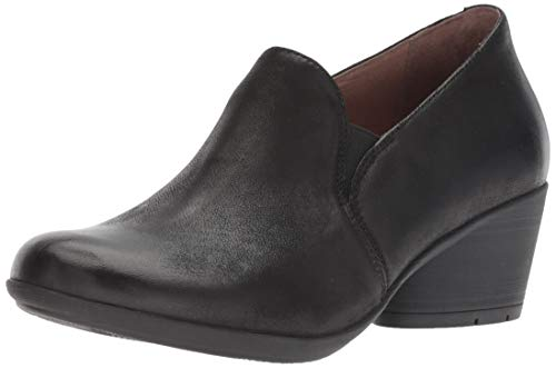 Dansko Women's Robin Loafer Flat, Black Burnished Nubuck, 38 M EU (7.5-8 US)