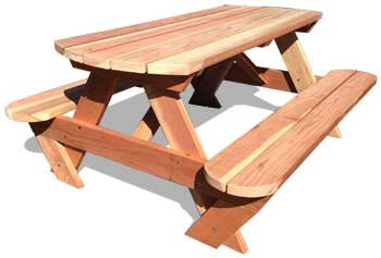 6′ Genuine California Redwood Picnic Table, Round Ends Review
