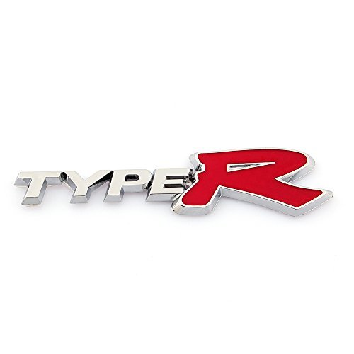 Areyourshop 3d Emblem Badge Sticker Decal ABS Plastic Type R for Honda FIT Civic Acura NSX (Type R Logo)