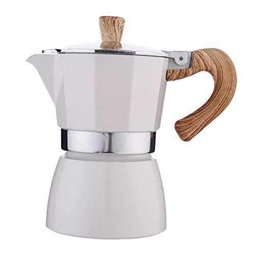 Nobranded Cafetera Italiana Moka Espresso CAFÉ percolador Olla Estufa cafetera 150ml/350ml – Blanco 150ml