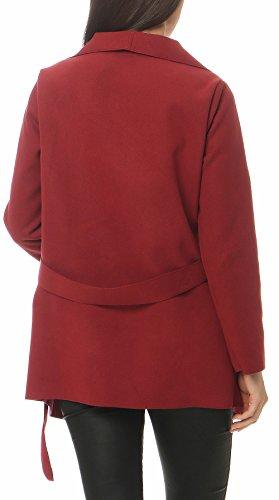Design Veste Manteau Femme Gilet Bordeaux court malito Size avec Bolro Enrouler 3041 Cascade One q5YOIqwv