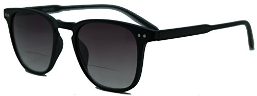 In Style Eyes¨ Fluky, Lightweight Designer Bifocal Sunglasses/Black +1.25 by Style Eyes