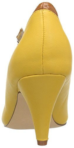 Pinup Couture Women's Peach-03 Peach03/Ylmcpu Dress Pump Yellow/Multi Faux Leather NJcNb40