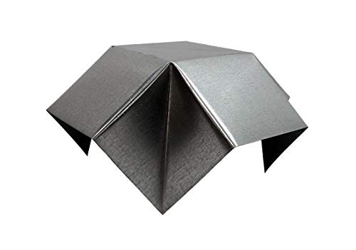 Roof Vent Cap in Galvanized Steel - Fold-Style Rain Cap for Roof Vent Pipe - Can Be Mounted on Vent Pipe or Roof Flashing - Low Profile and Adjustable Pipe Cover (4