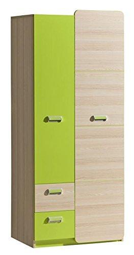 Kinderzimmer Schrank Grün 188x80x52 Cm Amazonde Baumarkt