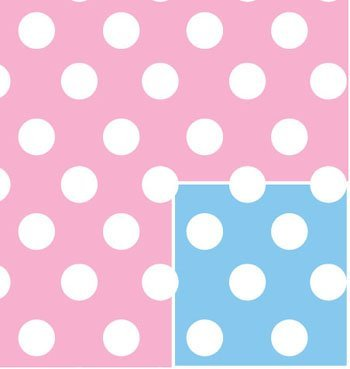 Baby Polka Dot Wrap Roll Wrap 24 Inches
