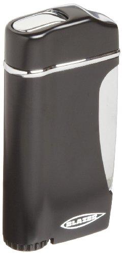 Blazer Stratus Butane Refillable  Torch Lighter, Black - Soft Blue Torch Flame Lighter