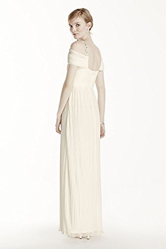 Beaded-Drop-Shoulder-Pleated-Long-Jersey-Wedding-Dress-Style-264861D