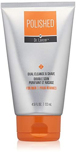 Polished by Dr. Lancer Dual Cleanse & Shave, 4.5 Fl Oz