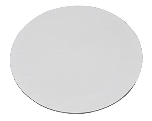 Southern Champion Tray 11209 8'' Corrugated Single Wall Cake and Pizza Circle, Greaseproof, White (Case of 100) by Southern Champion Tray