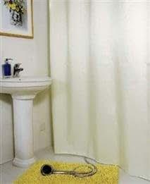 Solid Design Polyester Waterproof Bathroom Shower Curtain