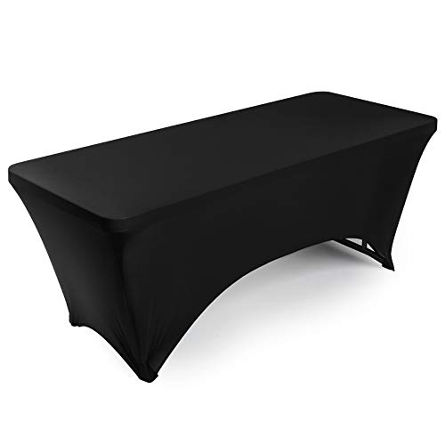 Lann's Linens - 6' Fitted Stretch Tablecloth for 72