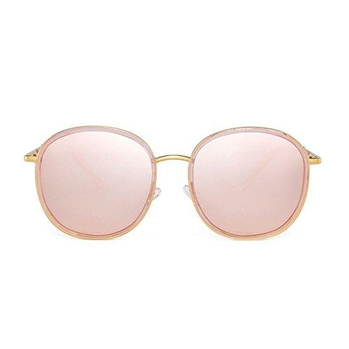 Sol Femeninas 3 Color de DT polarizadas de Cara Retro Gafas Gafas UV 3 Redonda Sol qgqt64xw8