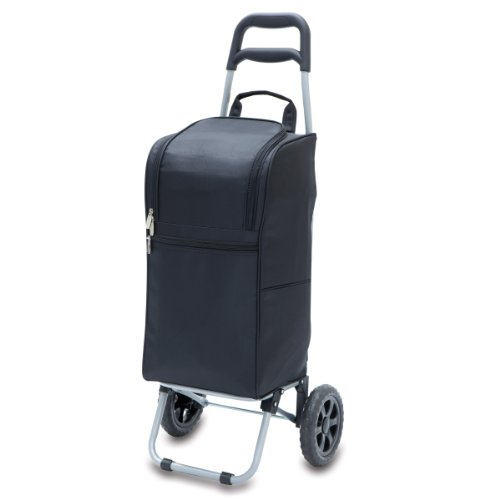 - ONIVA - a Picnic Time Brand Insulated Cart Cooler with Wheeled Trolley, Black