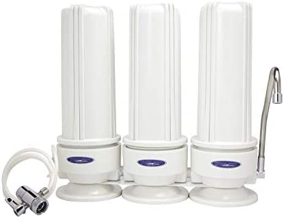Crystal Quest CRYSTAL-QUEST-CQE-CT-00133 Triple Plus Countertop Fluoride Filter System, Plastic