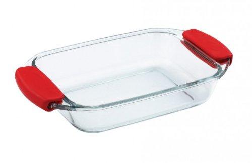 Molde para horno de vidrio - 0,7 litro cuadrada con mango de ...