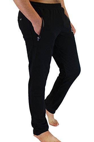 - SCR SPORTSWEAR Men's Soccer Track Training Pants Athletic Sweatpants Black Long Inseam (Medium x Long)