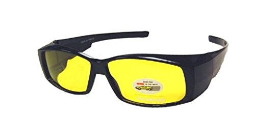 Night Driving Yellow Lens Rectangular Fitover - - Glasses Riding Prescription
