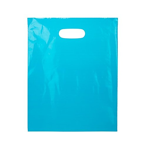ClearBags 12 X 15 LDPE Blue Handle Bag | Merchandise Bag With Die Cut Handles Tear Resistant Strength | Perfect for Trade Shows, Retail, and More | H1215L1A (Pack of - In Best Shopping Copenhagen