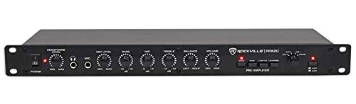 Rockville PPA20 Preamp Professional 1U Rack Mount Pre-Amplifier w/Crossover+EQ