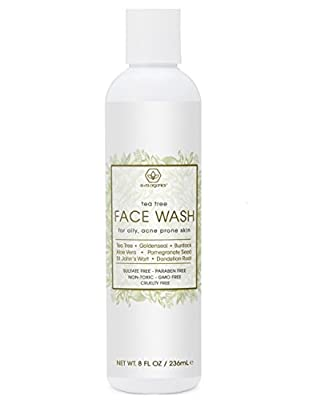 Tea Tree Oil Face Cleanser – Face & Body Wash for Dry, Oily, Acne Prone Skin & Rosacea 8oz Natural & Organic Facial Wash to Moisturize, Nourish, Soothe Redness & Inflammation by Era Organics