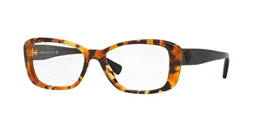 Versace Women's VE3228 Eyeglasses Light Havana - Havana Eyeglasses Versace