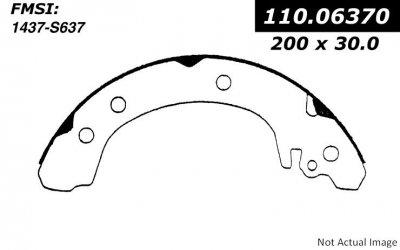 Centric (110.06370) Brake Shoe (1999 Saturn Sl2 Rear Brake Shoes)
