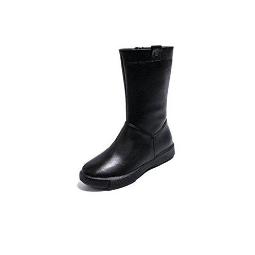 CHENGREN Winter Damen Stiefel Flach mit Freizeitkleidung Plüsch warm, 42