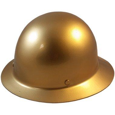 MSA Skullgard Full Brim Hard Hat with STAZ ON Suspension - Gold
