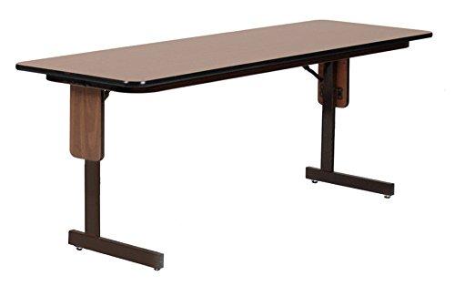 Oak Rectangular Table Folding - Correll SP2472PX-06 High Pressure Laminate Classroom, Training or Seminar Table with Folding Panel Leg, Rectangular, 24