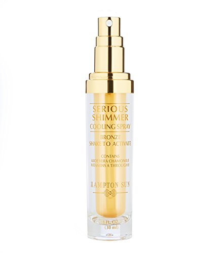 (Hampton Sun Serious Shimmer Cooling Spray, Bronze, 1 fl. oz.)