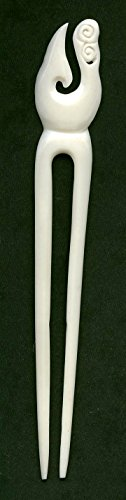 Maori Costumes (Hand Carved Bone Maori Heru Hairpin or Hair Comb)