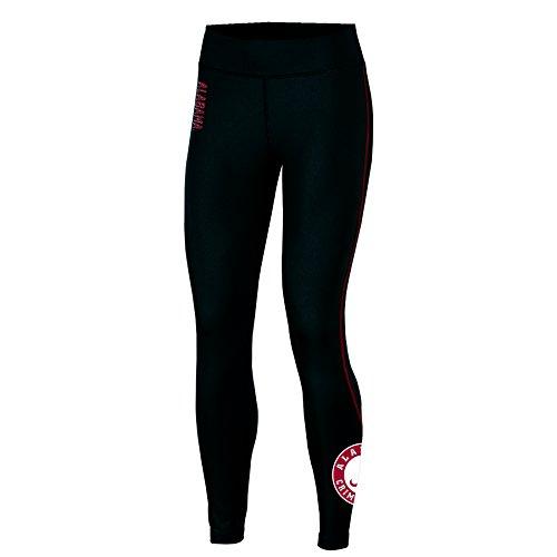 NCAA Alabama Crimson Tide Adult Women Fashion Fit Fitness Leggi, Large, Black Alabama Pants