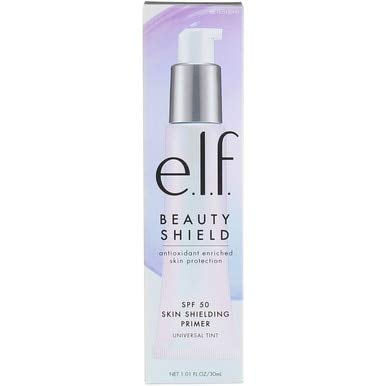 e.l.f Beauty Shield SPF 50 Skin Shielding Primer, Universal Tint, 1.01 fl oz