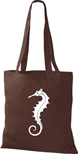 Unbekannt - Bolso de tela de algodón para mujer marrón