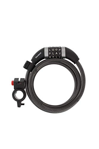 Wordlock Combination Bike Cable Lock - 4 Dial, 5 Foot, Black