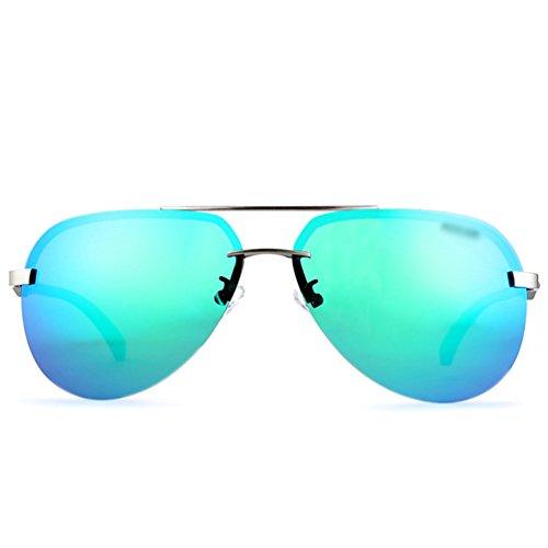 Mujer Lvguang 2 Gafas bordeGafas Lentes PolarizadasSin Vintage Reflexivas de Casuales Sol Estilo Square Gafas Hombre raPxHwUr