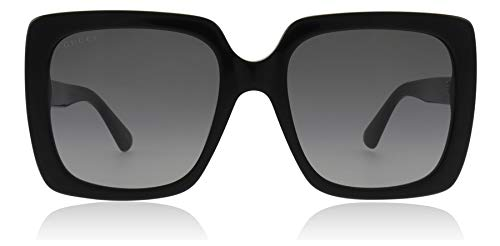 Gucci GG0418S 001 Black GG0418S Square Sunglasses Lens Category 2 Size 54mm by Gucci