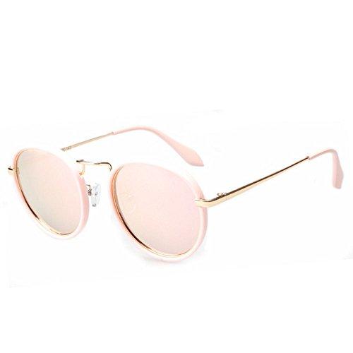 de en en Mme cadre plein Élégant air hommes polarisé et Rose métal protection lunettes rond soleil Uv400 APxOT