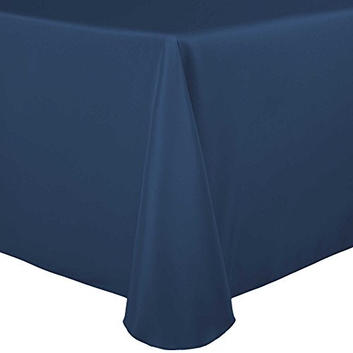Ultimate Textile 60 x 84-Inch Oval Polyester Linen Tablecloth Wedgewood Blue