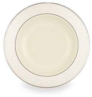 Lenox Pearl Innocence Platinum Banded Ivory China Pasta Bowl/Rim Soup by Lenox