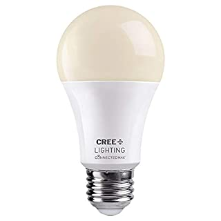 Connected Max Bluetooth + WiFi Smart LED Bulb Dimmable White A19 60W Soft White 2700K 1pk, CMA19-60W-AL-827