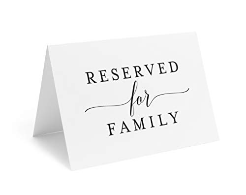 (Bliss Collections Reserved Signs for Wedding Reception, 4x6 Reserved Table Cards, Table Setting Cards - Pack of 10 from)