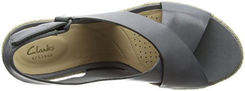 Clarks Palm caviglia grigio grigia da Sandalo alla pelle Glow cinturino donna UUwXAdrq